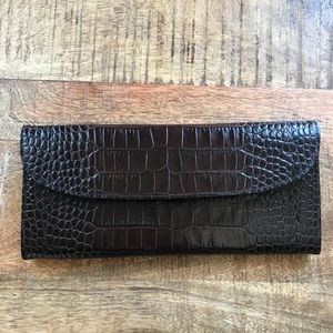 Gigi New York Croc Skin Clutch